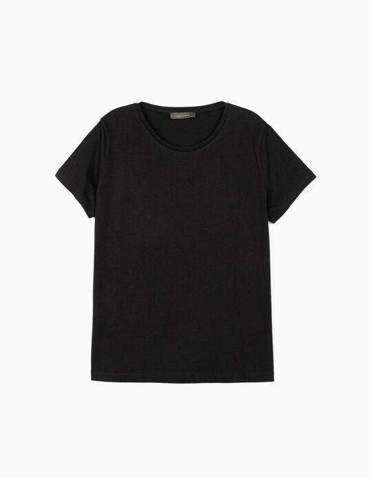 T-shirt de Algodão Básica, Mo Essentials