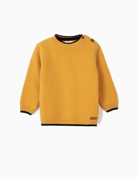 Camisola de Lã para Bebé Menino, Amarelo