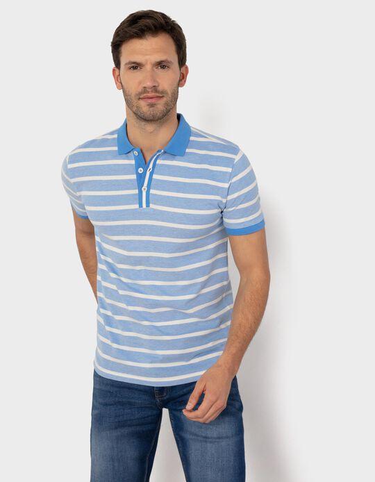 Striped PiquéKnit Polo Shirt