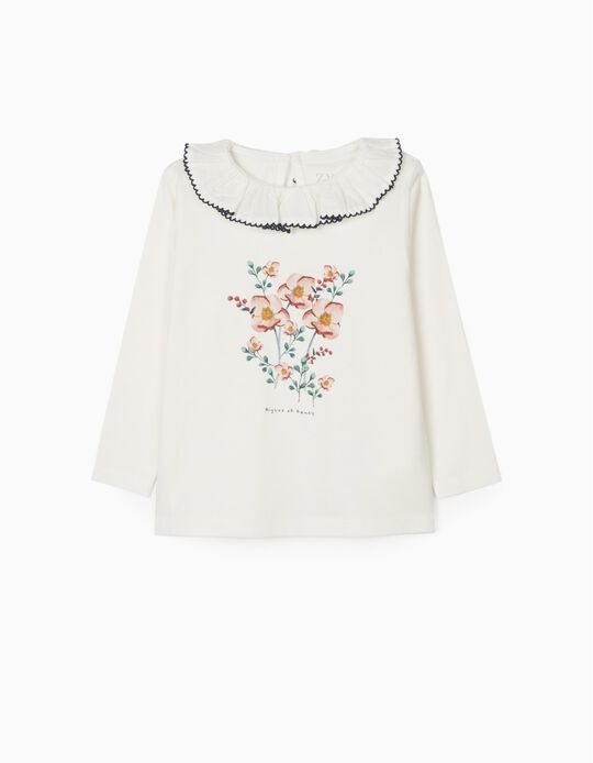 Long Sleeve T-Shirt for Baby Girls 'Fancy', White