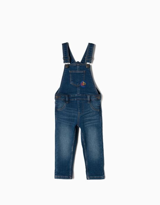 Denim Dungarees for Baby Boys 'ABC', Blue