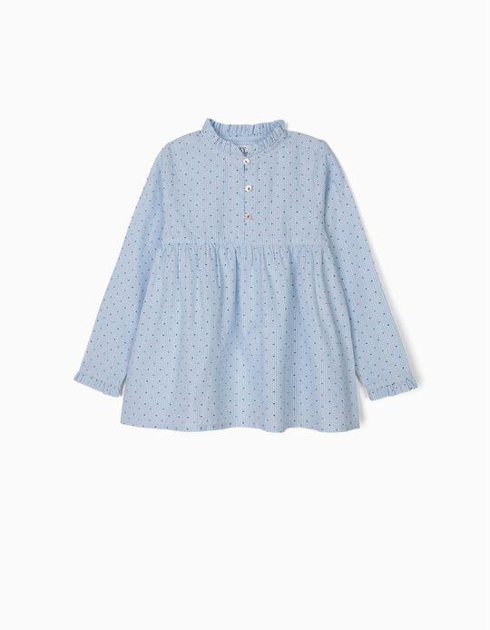 Blusa para Menina com Lacinhos, Azul