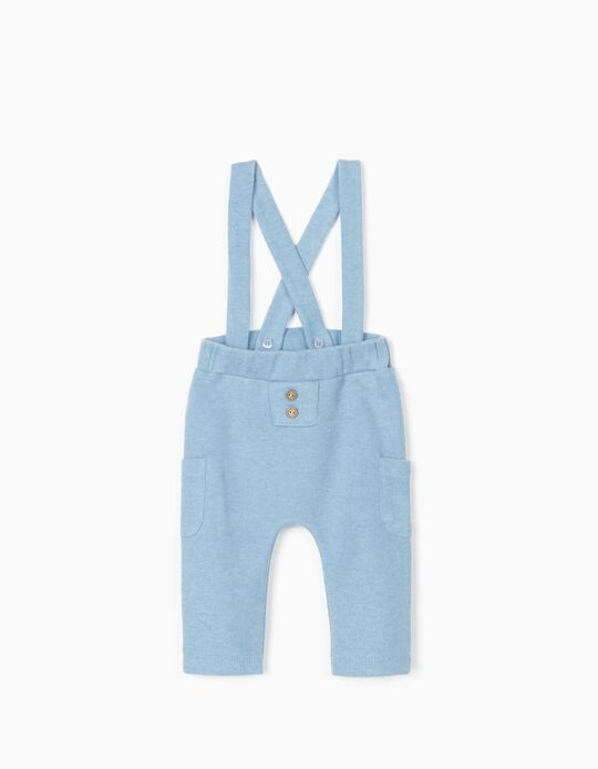 Trousers with Braces for Newborn Baby Boys, Blue