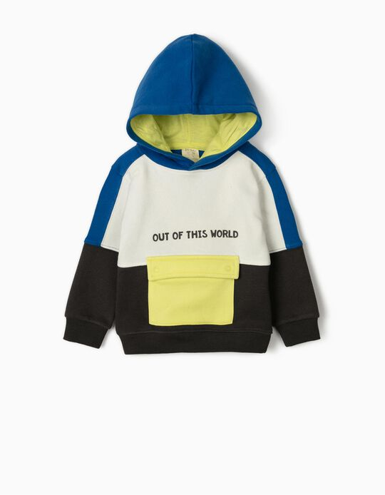 Hooded Sweatshirt for Baby Boys 'Out of This World', Multicoloured