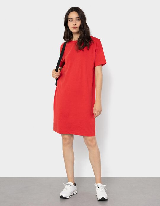 Knitted Dress for Women, Red