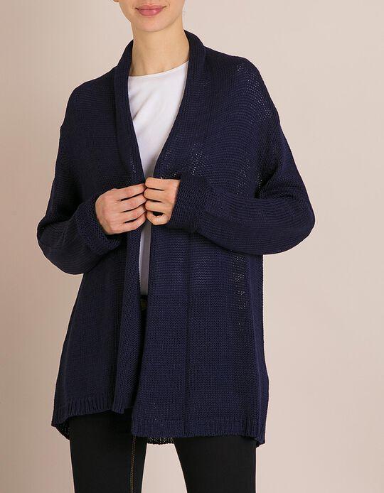 Casaco Malha Azul