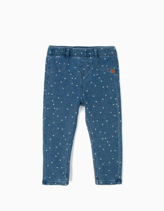 Jeggings for Baby Girls 'Stars', Blue
