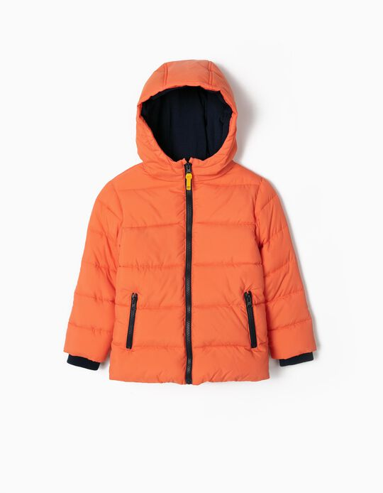 Puffer Jacket for Boys, Orange