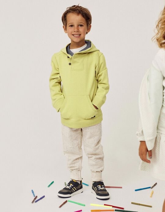 Trousers for Boys, Marl Beige