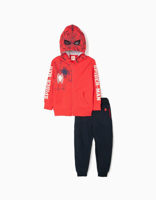 Tracksuit for Boys 'Spider-Man', Red/Dark Blue