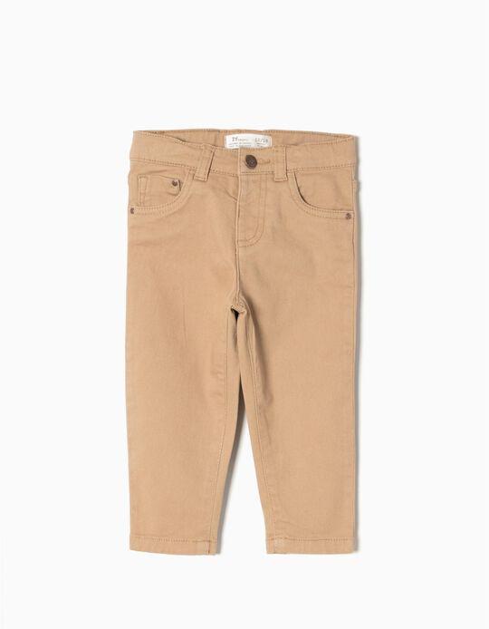 Twill Trousers, Beige