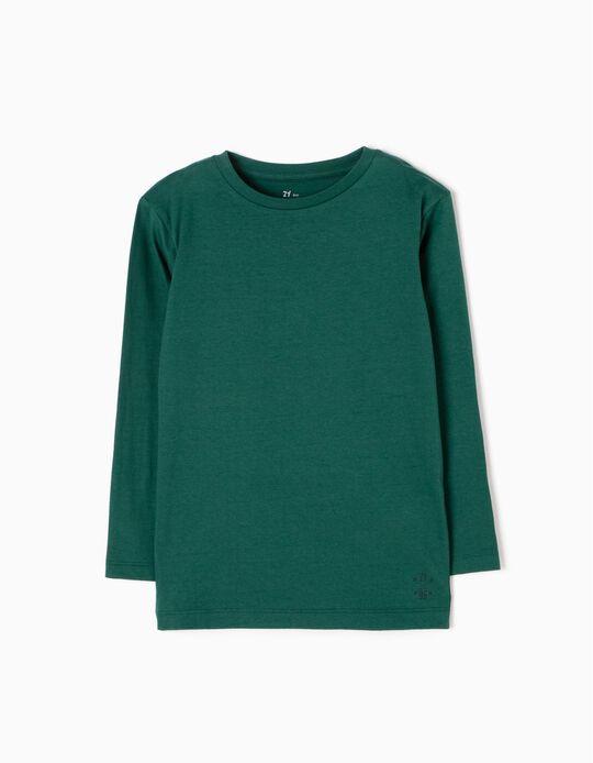T-shirt Manga Comprida Verde