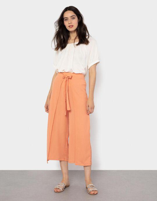 Skirt Trousers for Women, Salmon