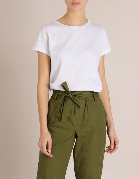 T-Shirt Algodão Branca