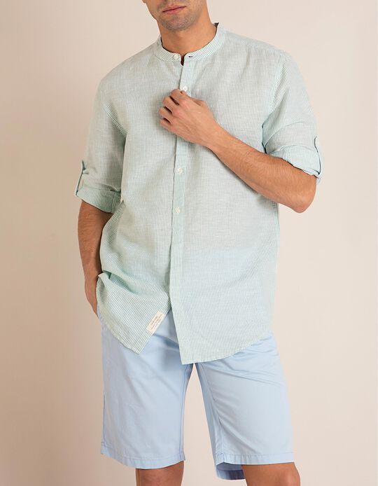 Camisa Riscas Linho