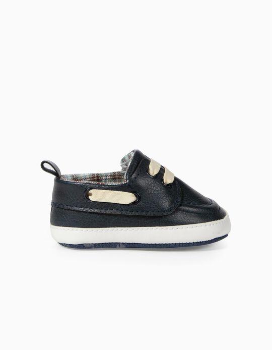 Shoes for Newborn Boys, Dark Blue