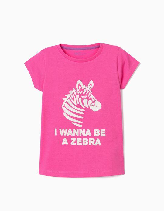 T-shirt para Menina, 'Zebra'