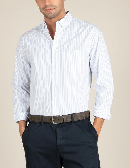 Regular Fit Shirt with Double Stripes