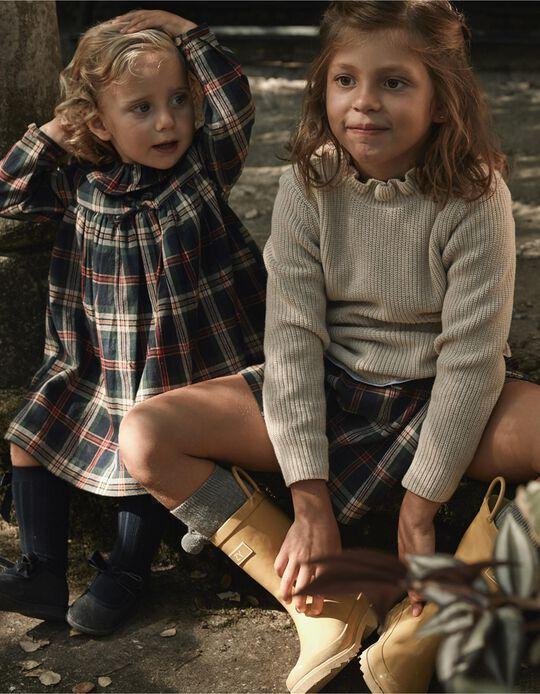 Camisola de Malha Canelada para Menina 'B&S', Bege