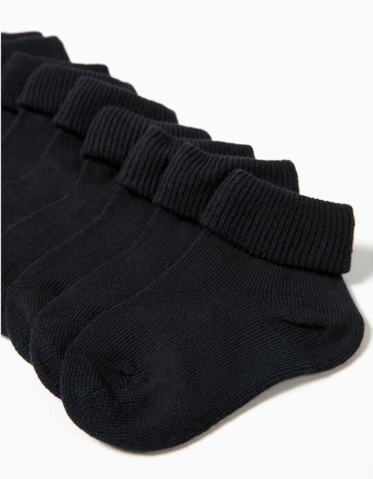 5-Pack Pairs of Socks with Turndown for Baby, Dark Blue