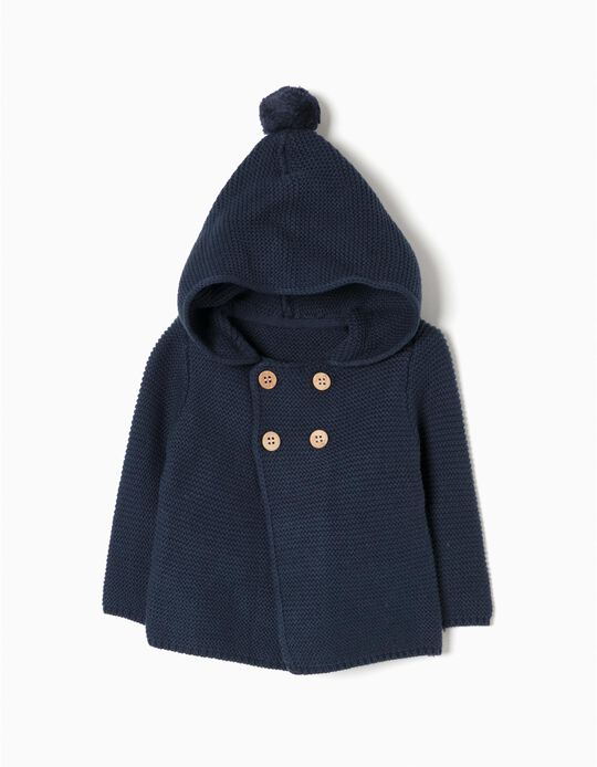 Hooded Jacket with Pompom