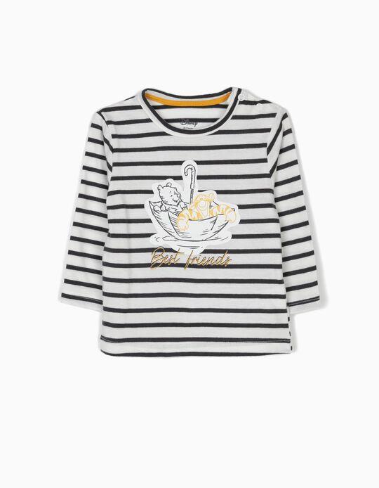 T-shirt de Manga Comprida Winnie the Pooh Riscas