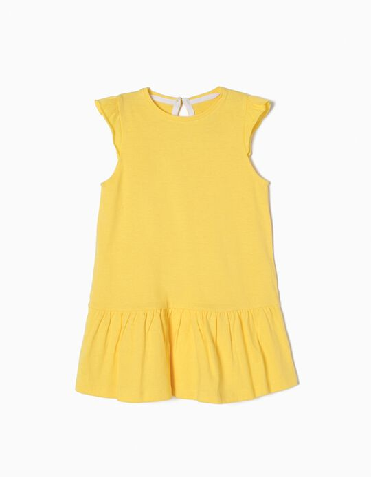 Vestido Liso Amarelo