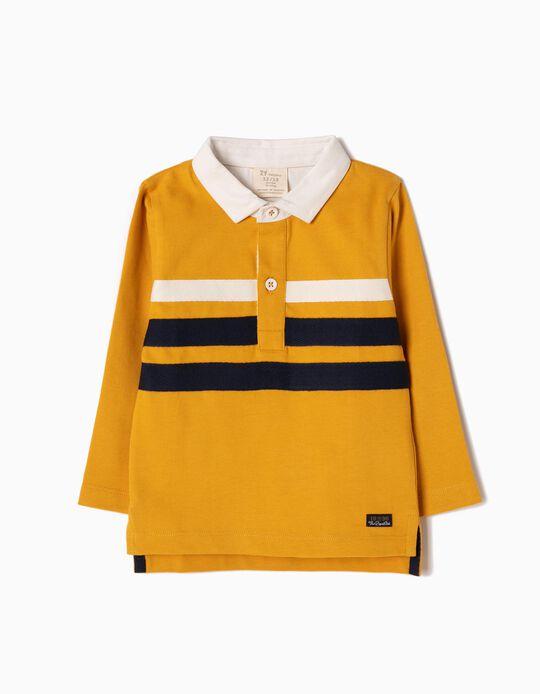 Polo Amarelo Riscas