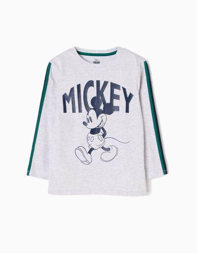 T-shirt Manga Comprida Mickey Walking