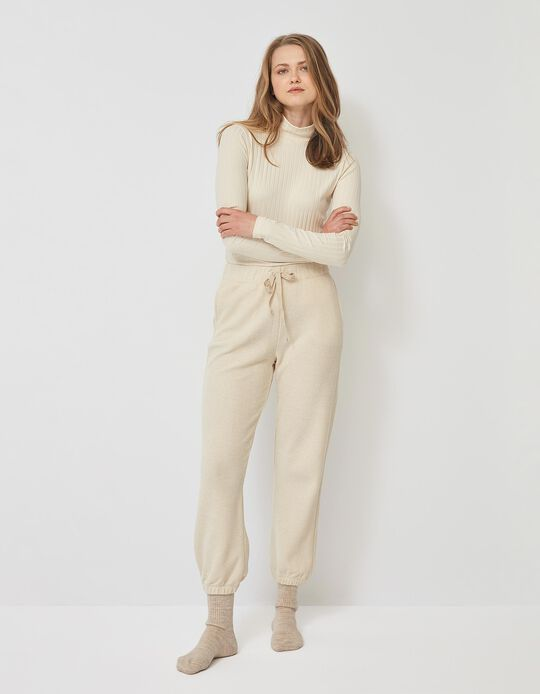 Textured Trousers for Women