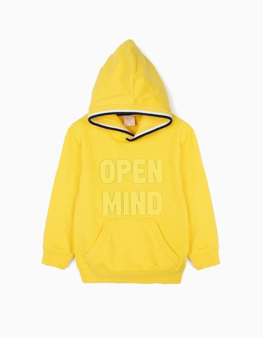 Sweatshirt com Capuz para Menino 'Open Mind', Amarelo