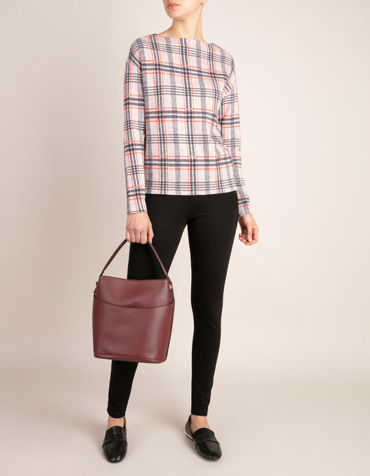 Long-Sleeved Plaid Jumper