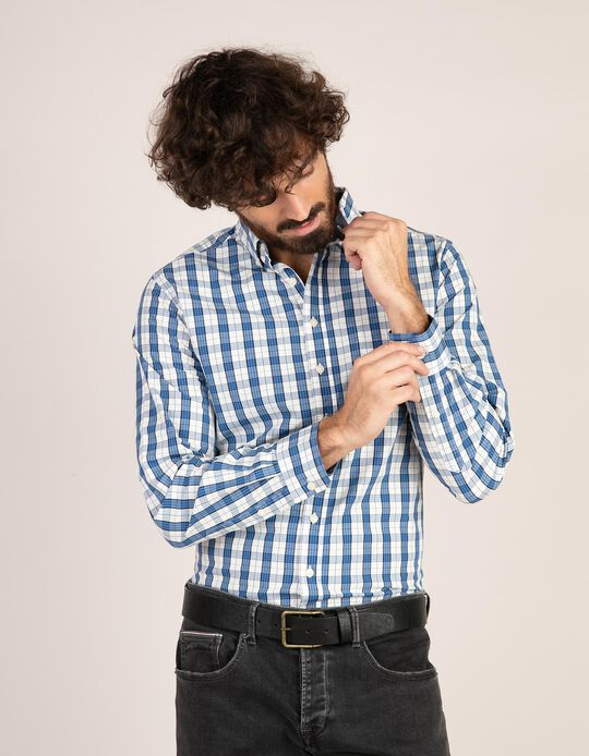 Camisa regular fit tartan