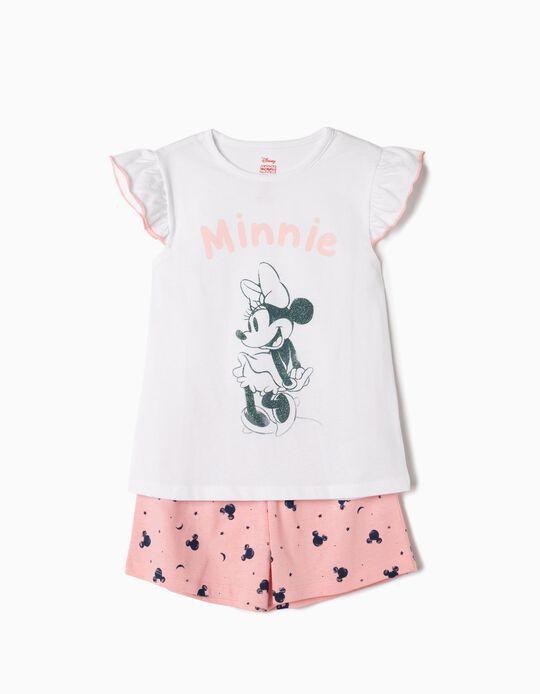 Pijama para Menina 'Minnie', Branco e Rosa
