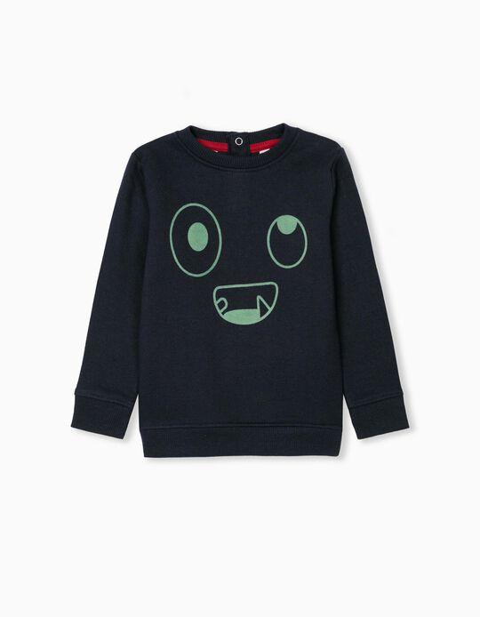 Little Monster' Sweatshirt, Baby Boys, Dark Blue