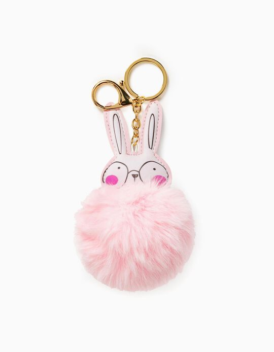 Keyring for Girls 'Bunny', Pink