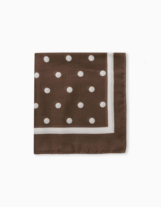 Dotted Scarf for Women, Brown