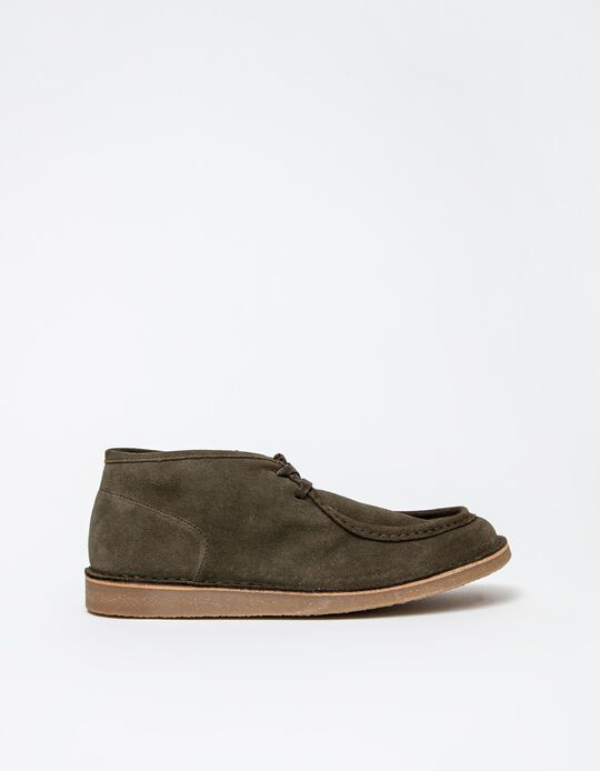 Suede Shoes, Men, Dark Beige