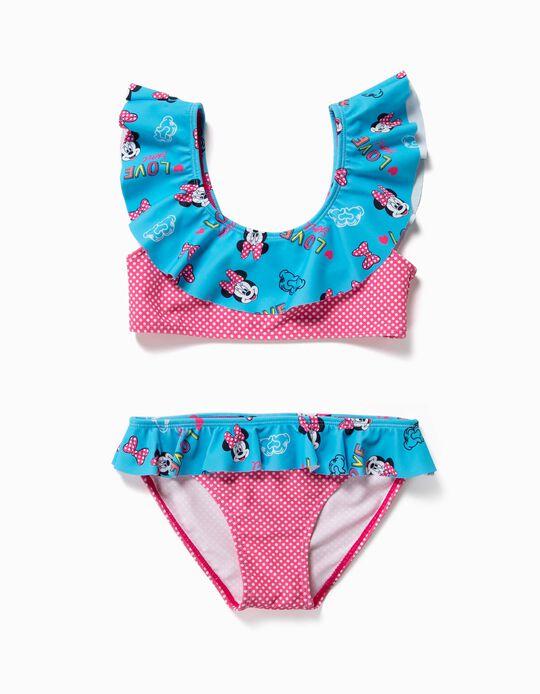 Biquíni para Menina 'Minnie' Anti-UV 80, Rosa e Azul