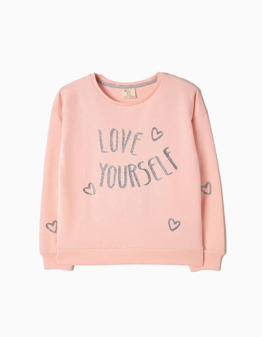 Sweatshirt Love Yourself Rosa