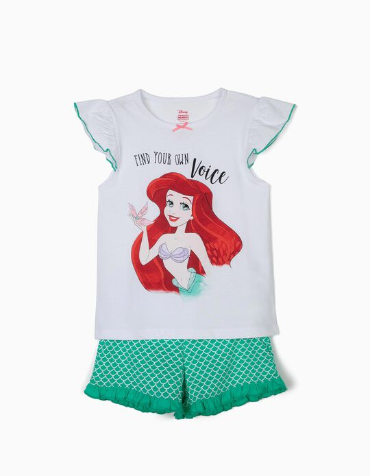 Pijama para Menina 'Little Mermaid', Branco e Verde