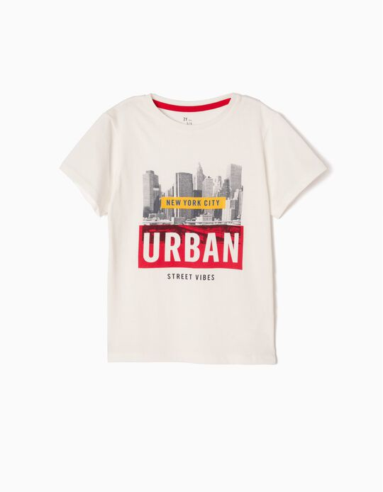 T-shirt New York City Branca