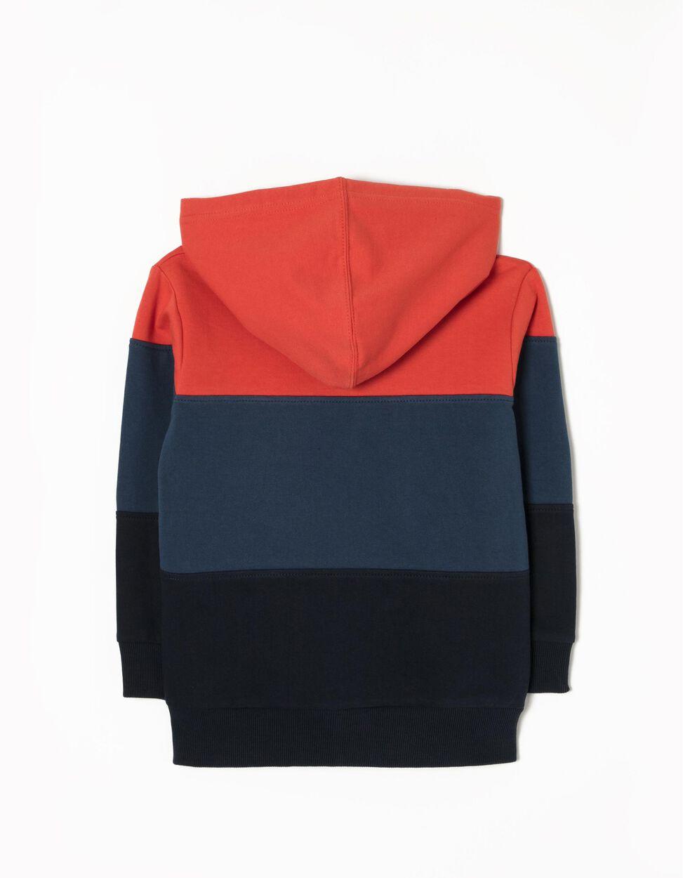 Casaco de Felpa Tricolor