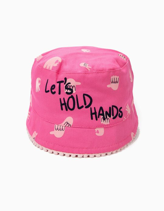 Hat for Girls 'Let's Hold Hands', Pink