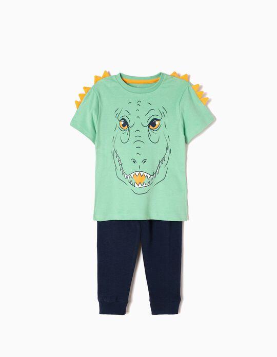 Pijama Manga Curta e Calças Dinossauro