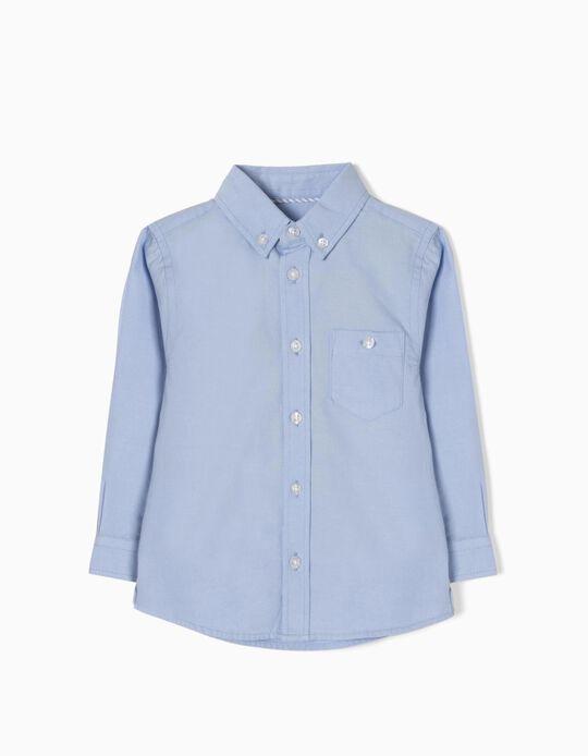 Long-Sleeve Shirt for Baby Boys, Blue
