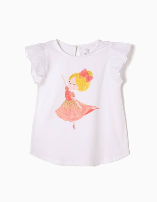 T-shirt Estampada Bailarina