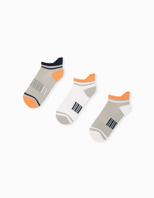 3 Pairs of Assorted Socks for Children, Grey