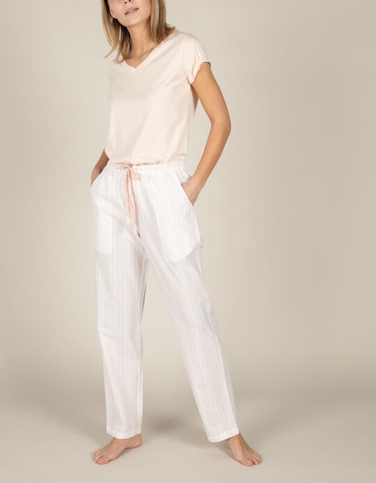 Calças de pijama riscas