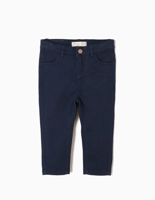 Dark Blue Twill Trousers